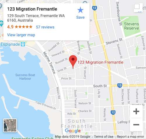 Google Map of our office in Fremantle